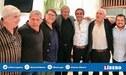 Captan a Germán Leguía con integrantes de Fondo Blanquiazul [FOTO]