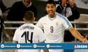 El espectacular tiro libre de Suárez para el 2-1 de Uruguay sobre Argentina por Fecha FIFA [VIDEO]