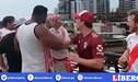¡Casi llegan a las manos! Hinchas de River y Flamengo a punto de comenzar pelea tras un gesto racista [VIDEO]