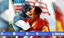 Marvel: Iron Man y Capitán América se besan en el comic [FOTO]