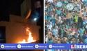 Hinchas de Sporting Cristal quemaron el frontis de Campo Mar [VIDEO]