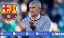 Barcelona habría elegido a Quique Setién como el reemplazo de Ernesto Valverde