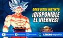 Goku Ultra Instinto llega hoy a Dragon Ball: FighterZ