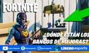 Fortnite: donde encontrar los bancos de mejoras en la Temporada 3
