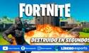 Fortnite: bug permite destruir toda edificación en segundos