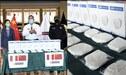 Coronavirus: China donó mascarillas a efectivos de la Policía Nacional del Perú