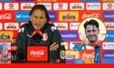 Ricardo Gareca y su enérgica reacción ante las constantes preguntas sobre Gianluca Lapadula - VIDEO