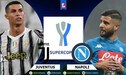 ▷ Ver DirecTV Sports en vivo, Juventus – Napoli: 0-0 GRATIS por Supercopa de Italia