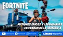 Fortnite Temporada 6: se filtran las misiones épicas y legendarias - Semana 4