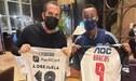 """Hernán Barcos regaló camiseta de Alianza Lima a excompañero: """"Te llevas la del más grande de Perú"""""""