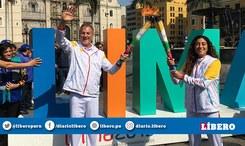 Lima 2019: Daniella Rosas participó junto al alcalde de Lima en el recorrido de la antorcha Parapanamericana [VIDEO]