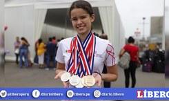 Alexia Sotomayor, niña prodigio de natación arrasa con medallas en Sudamericano [FOTOS]