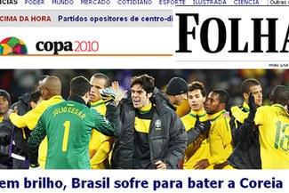 Prensa Brasileña critica a la Selección de Dunga