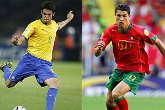 Cristiano Ronaldo y Kaká entre los más guapos del Mundial