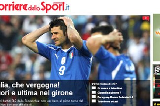Prensa italiana indignada con la eliminación de su selección