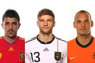 ¿Quién se la llevara?: Villa, Mueller y Sneijder nominados a La Bota de Oro