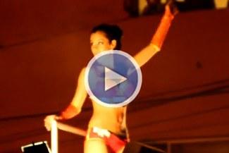 Larissa Riquelme fue la atracción en el corso de Miraflores