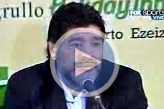 """Maradona: """"La traición está a la vuelta de la esquina"""""""