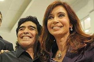 "Presidenta de Argentina: ""Estoy triste por lo de Diego. Aguante Maradona"""