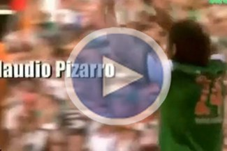 "El ""Conquistador"" Pizarro en la película Bremen vs Sampdoria"