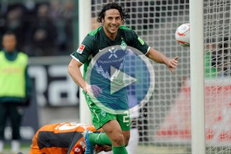 """Grande """"Pizza"""": Pizarro anotó y es el máximo goleador extranjero en la Bundesliga"""
