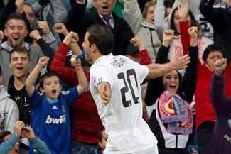 Higuín marcó el gol 700 del Real Madrid en la Champions