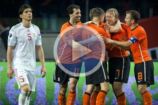 Holanda venció 5-3 a Hungría