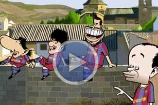 ¡Locos, locos, locos!: Piqué, Villa, Iniesta y Messi bailaron a ritmo de Shakira