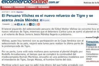 Confirmado: 'Pacho' Vílchez es el nuevo refuerzo de Tigre de Argentina