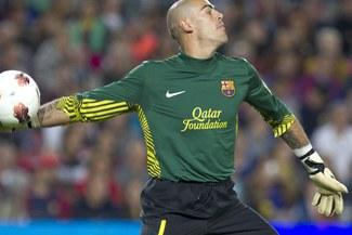 Víctor Valdés batió récord de imbatibilidad en partidos consecutivos