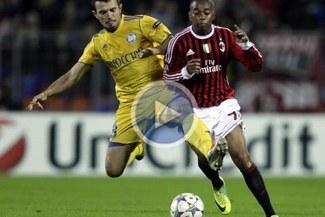Milan empató 1-1 con BATE Borisov por la Champions