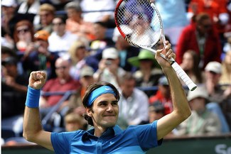 Gritó Campeón: Federer derrotó a Isner en la final de Indian Wells