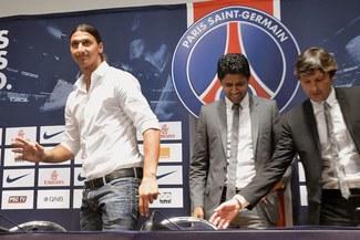 Zlatan Ibrahimovic fue presentado en el Paris Saint Germain