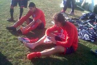 Se pone en forma: José Carlos Fernández hizo fútbol con Argentinos Junios