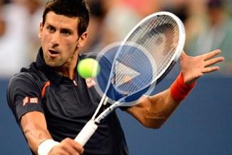 Novak Djokovic venció a Paolo Lorenzi en su debut en el Abierto de Estados Unidos [VIDEO]
