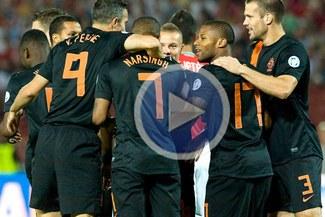 Holanda dominó partido y goleó 4-1 a Hungría en Budapest [VIDEO]