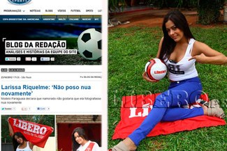 Entrevista de Larissa Riquelme a LÍBERO dio la vuelta al mundo