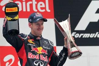 Sebastian Vettel se unió al club de los tricampeones de la Fórmula 1