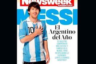 """Messi, el argentino del año"" en la portada del 'Newsweek'"