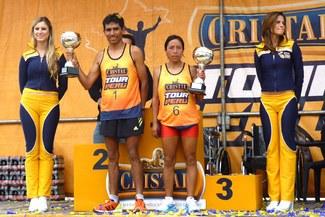 """Los atletas Jhon Cusi y Hortencia Arzapalo ganaron el """"Cristal Tour Perú"""""""