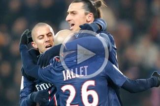 PSG goleó 4-0 al Valenciennes con 'hat trick' de Zlatan Ibrahimovic [VIDEO]
