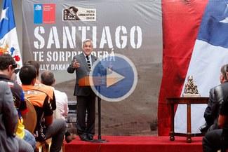 """Presidente chileno llamó """"cuadrúpedos"""" a los cuatriciclos en la presentación del Dakar 2013 [VIDEO]"""