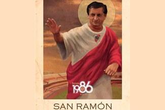 Hinchas de River Plate hicieron una estampita de Ramón Díaz