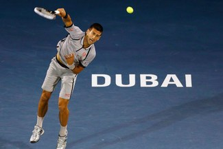 Novak Djokovic ganó en la segunda ronda del torneo de Dubai