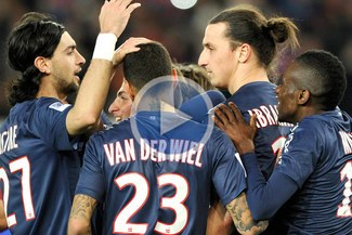 PSG goleó 3-0 al Niza con goles de Menez, Ibrahimovic y Chantome [VIDEO]