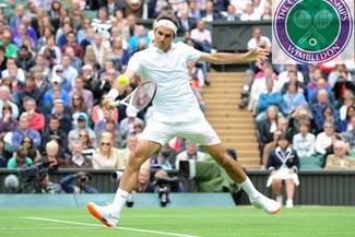 Roger Federer debutó hoy con triunfo en Wimbledon