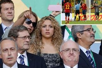 Shakira quedó ciega, sorda y muda tras la expulsión de Gerard Piqué por falta contra Neymar