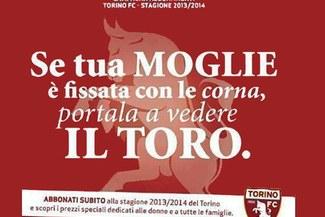 """Torino lanzó campaña de abonos: """"Si tu mujer está obsesionada con los 'cuernos', llévala a ver el Toro"""" [FOTO]"""