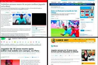 Prensa Internacional informó sobre fallecimiento de Yair Clavijo