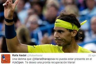 """Rafael Nadal: """"Es una lástima que Maria Sharapova no pueda estar presente en el US Open"""""""